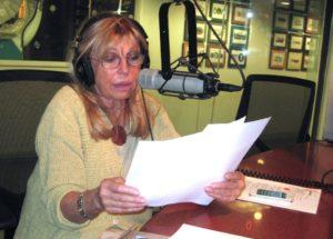 Nancy at the Mic